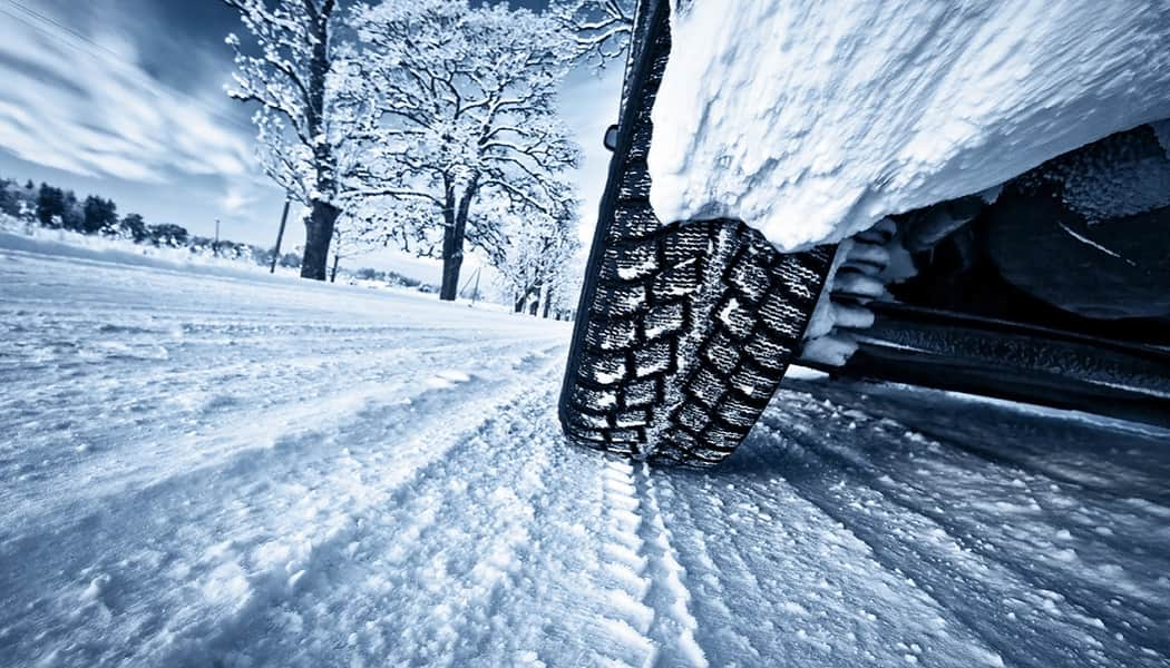 The design on these winter tires show how they are effective on snow and ice.