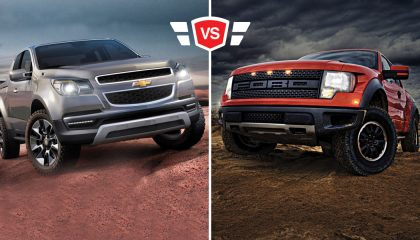 Ford and Chevrolet trucks