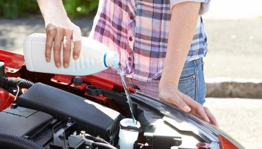 Seasonal vehicle maintenance like checking fluids is an important routine
