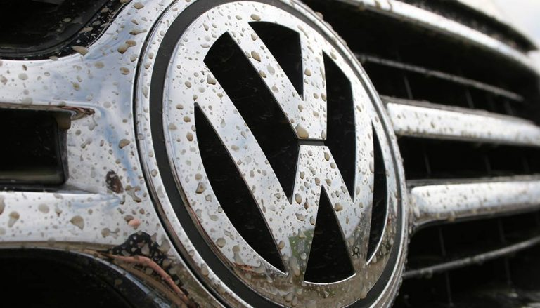 VW logo amid the emissions cheating scandal