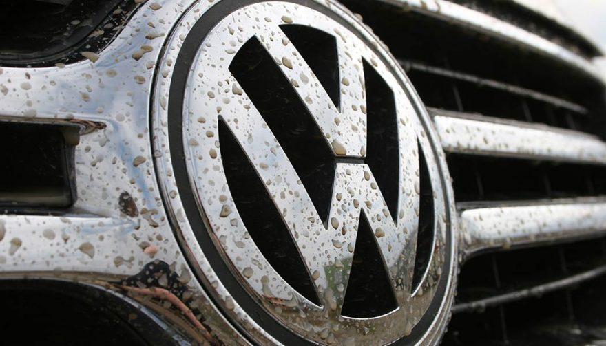 VW logo amid the emissions cheating scandal