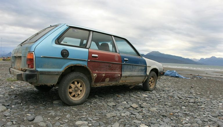 It can be difficult to decide to fix clunker car like this