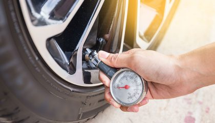 checking tire pressure monitor