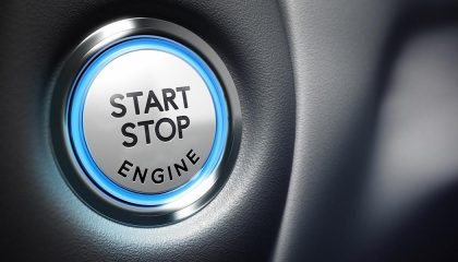 A keyless ignition button