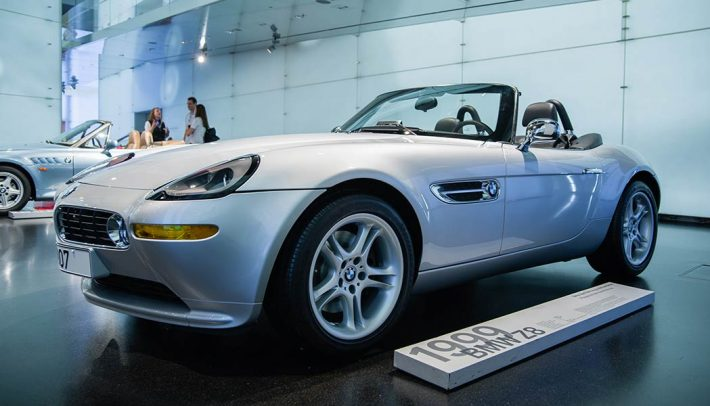 A James Bond car like the BWM Z8 are always fun features to the movie franchise