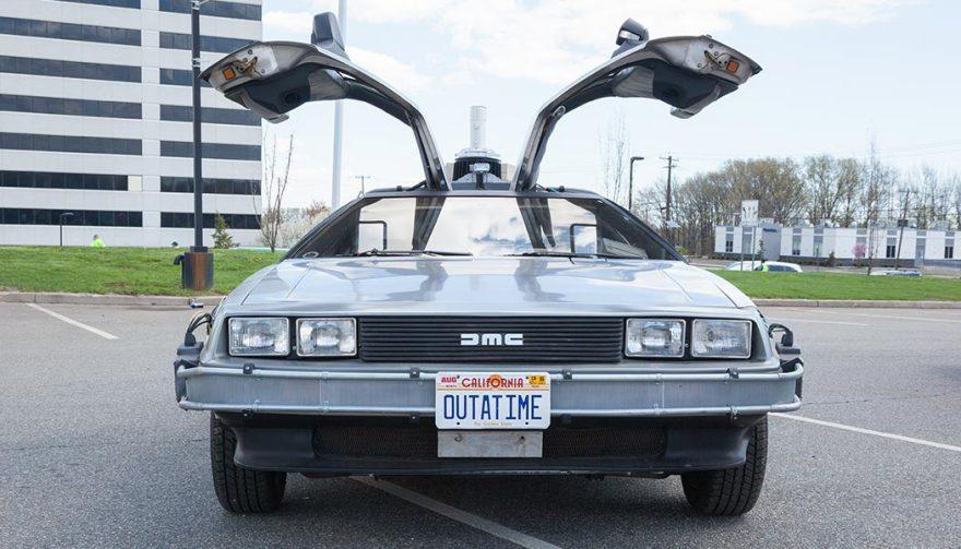 Futuristic cars like the Delorean