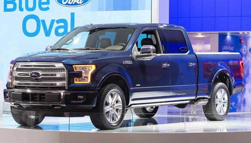 A Ford F-150 with new diesel engine