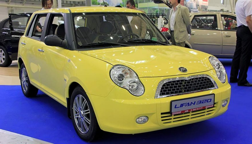A Lifan 320 is one of the most popular Chinese car knockoffs