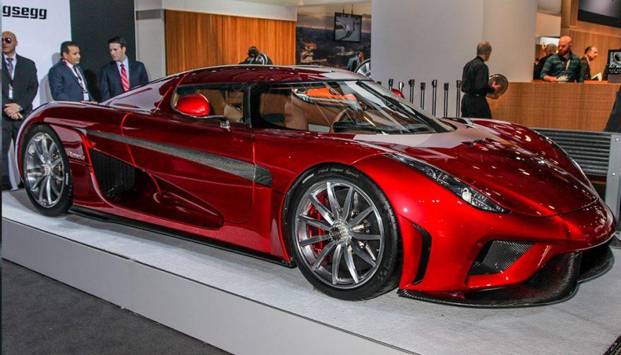 The New York Auto show featured the Koenigsegg Regera