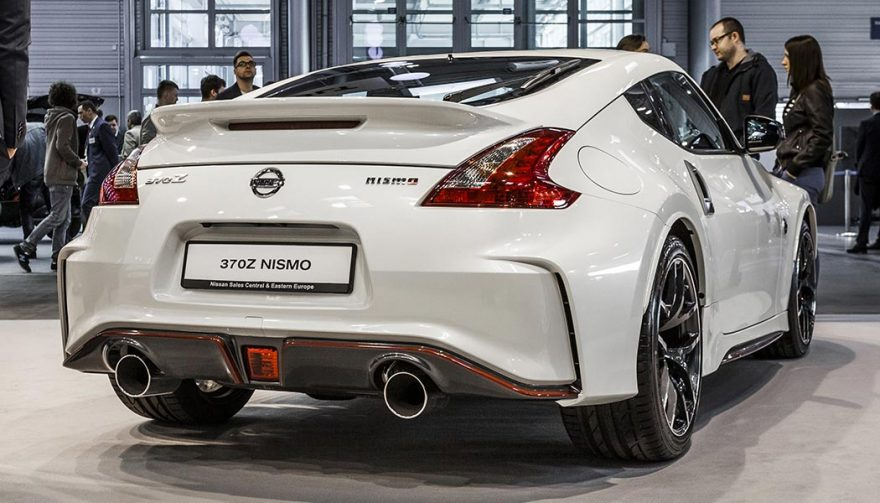 A rear exterior of a Nissan 370Z