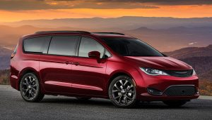 The drive-away event from The Palace of Auburn Hills in Michigan was for the anticipated release of Chrysler's newest minivan, the Chrysler Pacifica.