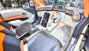 The interior of a driverless car