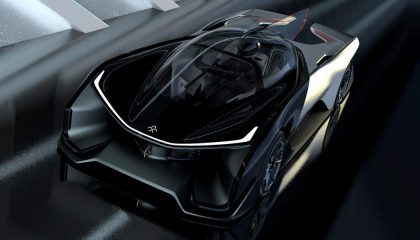 The Faraday Future FF Zero 1 electric crossover