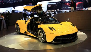 A Pagani Huayra is a popular V-12 car of choice