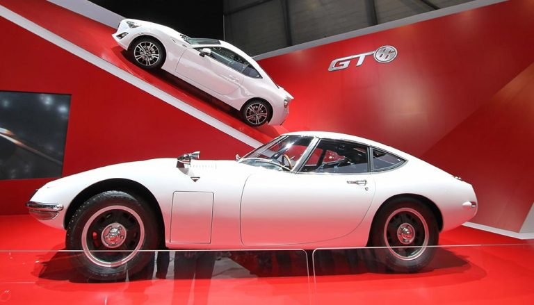 A Toyota 2000 GT is one of the most classic Japanese cars