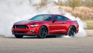 A conception of the 2018 Ford mustang