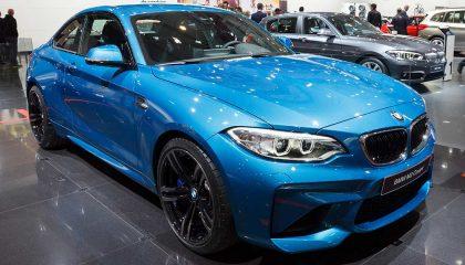A blue BMW M2