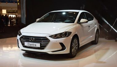 A growling grill on the 2017 Hyundai Elantra Sport shows the car's new mean appeareance