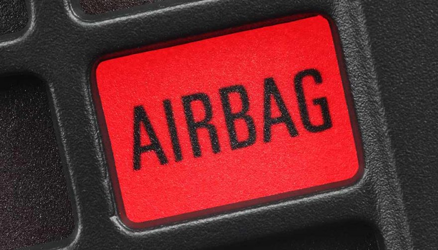 An airbag safety signal