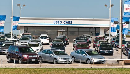 A certified pre-owned car dealership