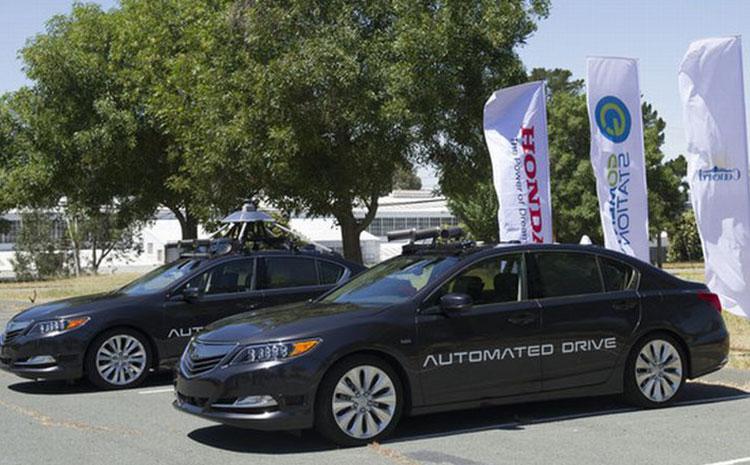 A Honda self-driving car