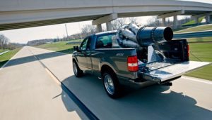 A custom jet-engine propelled Ford F-150