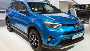 A blue RAV4 is a great seller in the SUV category.