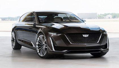 A black Cadillac Escala shows bold, forward-thinking design