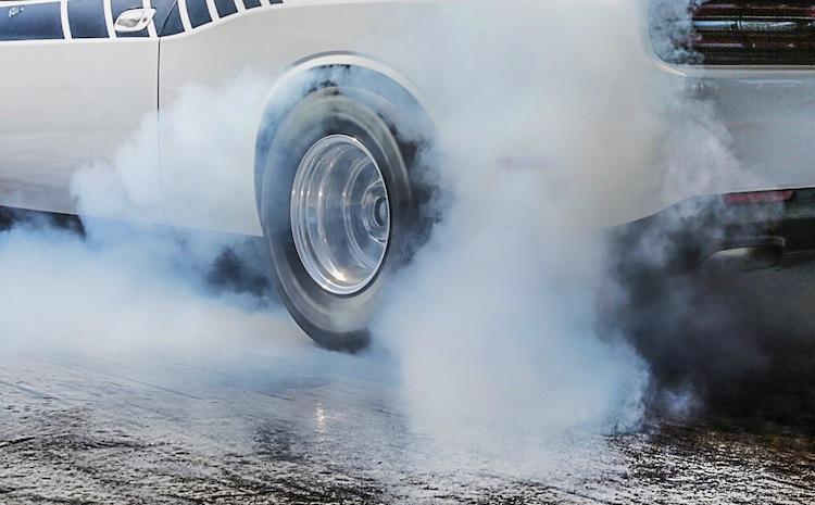 A burnout, the hallmark of powerful cars.