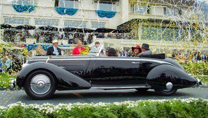 A luxurious 1936 Lancia at Pebble Beach