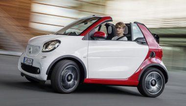 A man drives a succinct 2017 Smart Cabrio