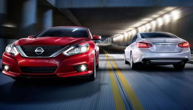 A 2016 Nissan Altima shows new design features for the model