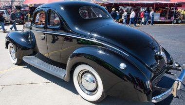 Not a NASCAR car, but a 1939 black Ford was perfect for bootlegging.