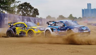 It's sportier, but the Rallycross Volkswagen Beetle keeps the iconic form.