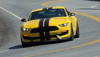 A 2016 Shelby GTR350R fits the Ford Performance makeup.