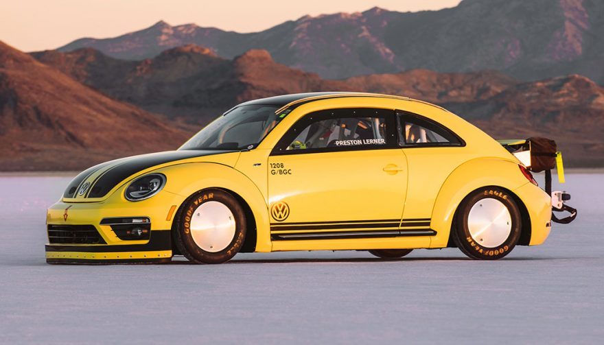 This VW set the Beetle land speed record.