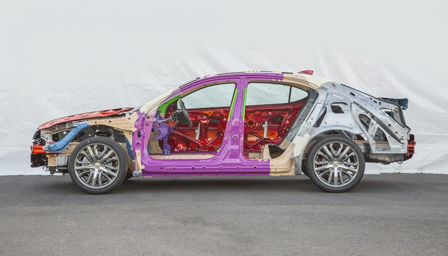 A stripped down Acura TLX shows the intracasies of midsize sedans.