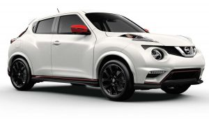 A Nissan Juke Nismo has unique styling.