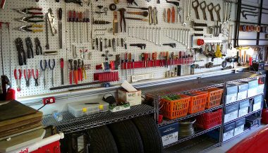 A garage shows how many tools are needed for a resto-mod