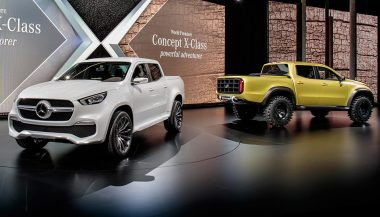 Two models of the new Merceds X-Class