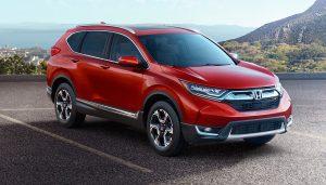 A new Honda CR-V has redesigned headlights.