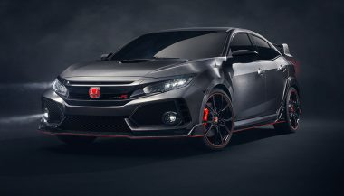 TheCivic Type R Prototype has distinguishing features.
