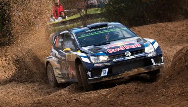 A Volkswagen Polo R WRC takes the world rally title.