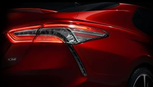 The Camry redesign shows the car to have a sportier look.