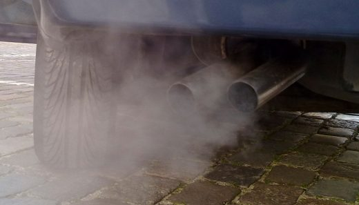 Fumes from an exhaust indicate the need for an emissions test