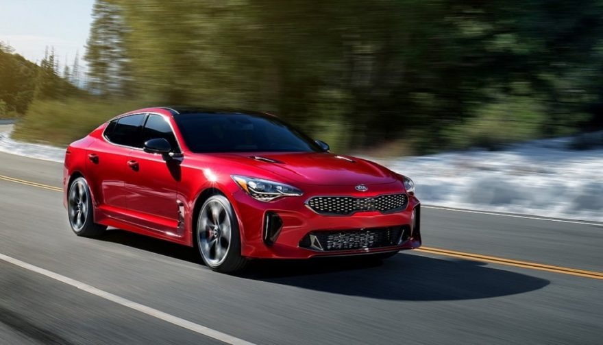 The new Kia Stinger has an attractive, sporty appearance.