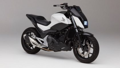 A Honda self-balancing motorcylces looks like a regular motorcycle