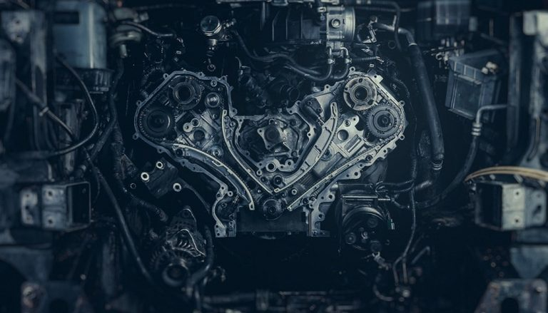 A photo of an engine shows how transmissions work