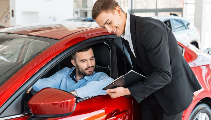 A customer buys his first new car