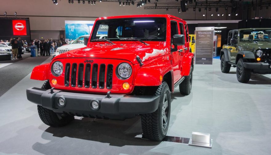 The Jeep Wrangler was one of the bestselling SUVs of 2016